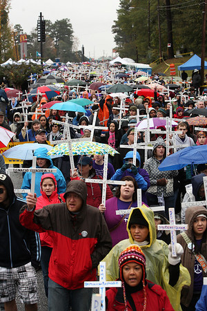 Nov 22: Thousands gather to close the WHISC.  (Photo by Linda Panetta)