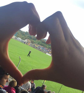 Spotted on the pitch in Aughrim