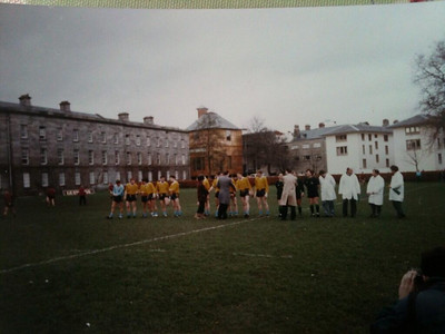 UCD playing first GAA match in Trinity 20 years ago - who is that photographer in bottom right?