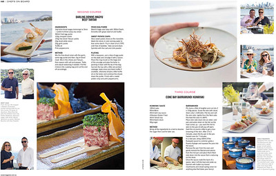 Sake Restaurant - spread in Ocean Magazine