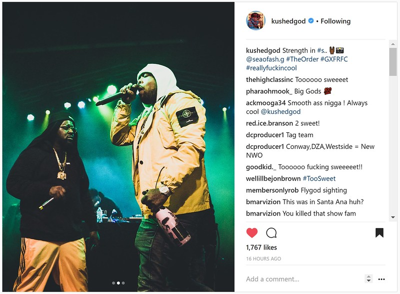 Hip-Hop artist Smoke DZA with Shady Records & Def Jam Records artist Westside Gunn