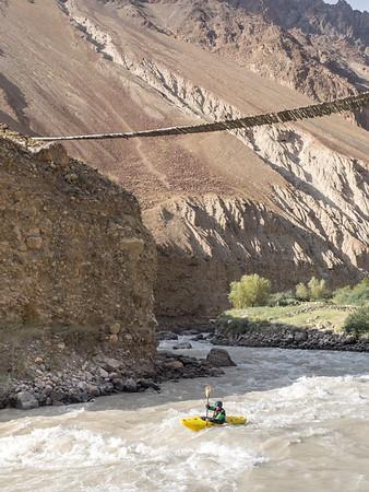 Kristof Sturssa in Tajikistan Yazgulem river