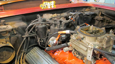 PCV, vacuum advance and vent line, Hose Candy installed on 1962 Corvette