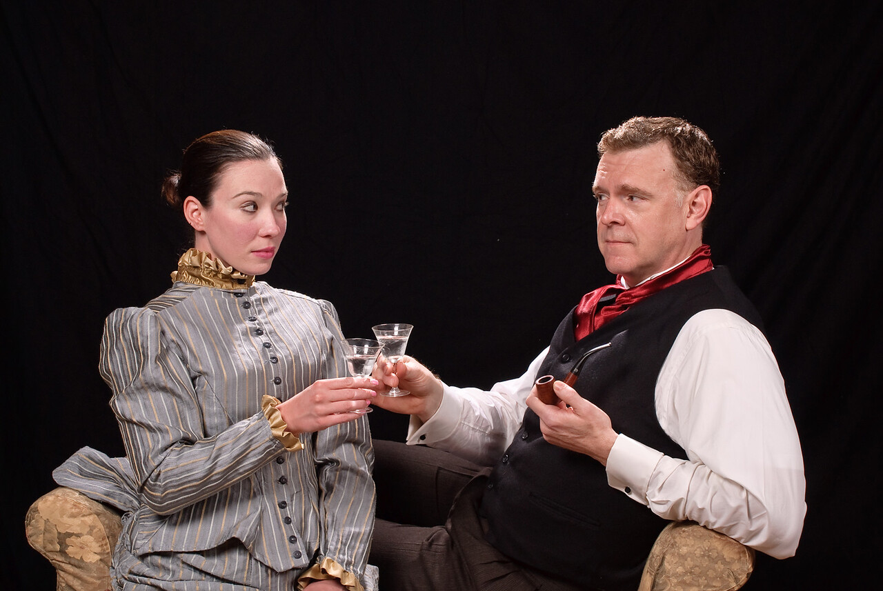 Erin Hill (Liza); Jim Gallagher (Holmes) Photo Courtesy of Colburn Images
