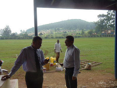 Cricket field being used for medical camp