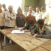 Registration Dest at eye camp in Chorwad