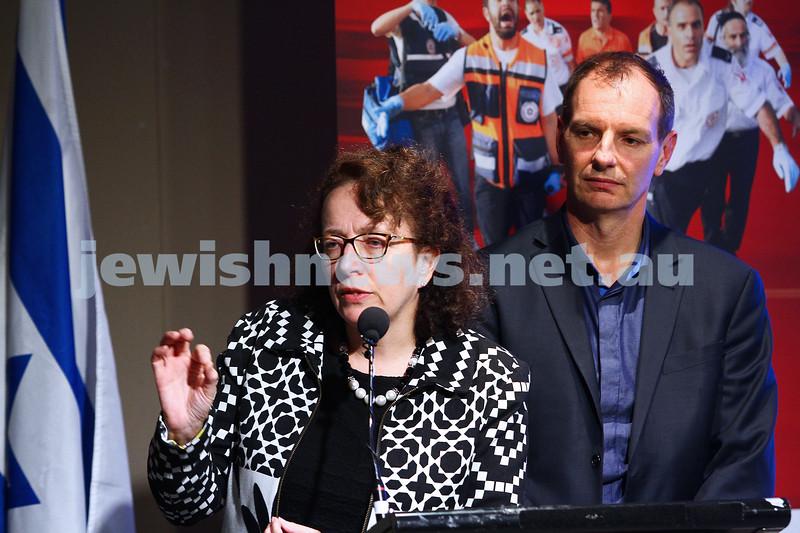 21-6-15. Medical Marijuana forum at Beth Weizmann. Ingrid Scheffer. Photo: Peter Haskin