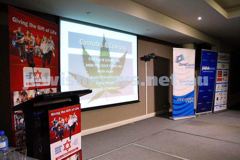 21-6-15. Medical Marijuana forum at Beth Weizmann. Photo: Peter Haskin