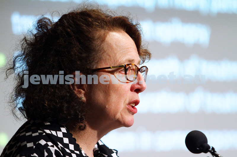 21-6-15. Medical Marijuana forum at Beth Weizmann. Ingrid Scheffer. Photo: Peter Haskin