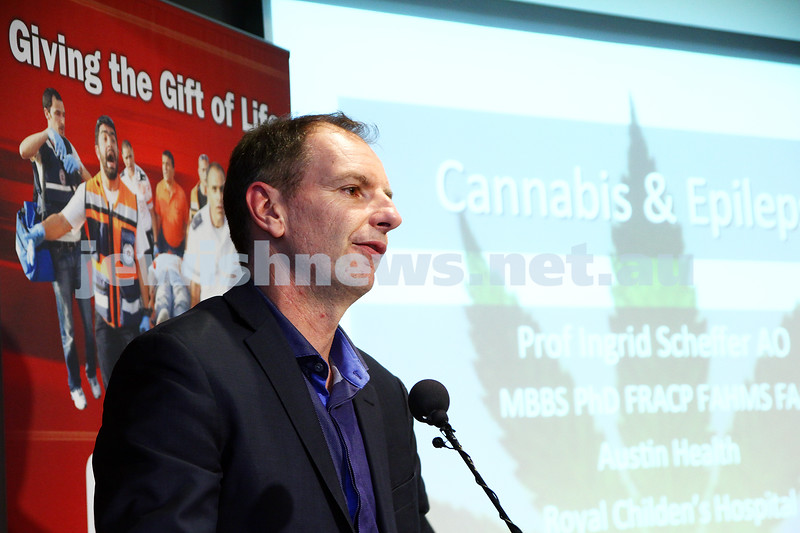 21-6-15. Medical Marijuana forum at Beth Weizmann. David Southwick, Photo: Peter Haskin
