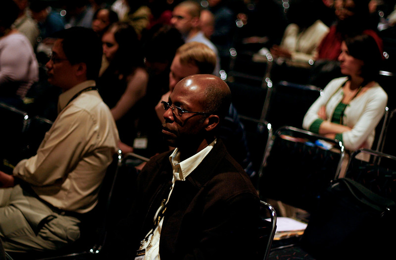 Denver, CO - AACR 2009 Annual Meeting: Attendees at the MICR Forum  during the American Association for Cancer Research Annual Meeting here today, Monday April 20, 2009. Over 17,000  physicians, researchers, healthcare professionals, cancer survivors and patient advocates from 60 countries are attending the meeting which is being held at the Colorado Convention center featuring the latest cancer research in the areas of basic, clinical and translational science. 2009 was the 100th anniversary of the AACR Annual Meeting. Date: Monday April 20, 2009 Photo by © Todd Buchanan 2009 Technical Questions: todd@toddbuchanan.com; Phone: 612-226-5154.