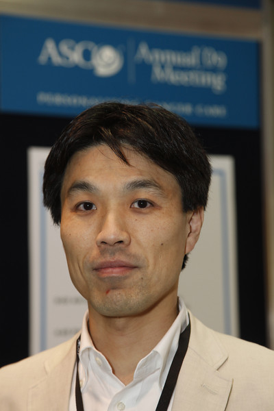 Orlando, FL - ASCO 2009 Annual Meeting: Hirofumi Mukai at the American Society for Clinical Oncology Annual Meeting here today, Sunday May 31, 2009. Over 25,000  physicians, researchers and healthcare professionals from over 80 countries are attending the meeting which is being held at the Orange County Convention center and features the latest cancer  research in the areas of basic and clinical science. Date: Sunday May 31, 2009 Photo by © ASCO/Todd Buchanan 2009 Technical Questions: todd@toddbuchanan.com; Phone: 612-226-5154.