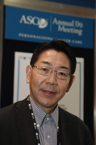 Orlando, FL - ASCO 2009 Annual Meeting: Hiroshi Sakai at the American Society for Clinical Oncology Annual Meeting here today, Sunday May 31, 2009. Over 25,000  physicians, researchers and healthcare professionals from over 80 countries are attending the meeting which is being held at the Orange County Convention center and features the latest cancer  research in the areas of basic and clinical science. Date: Sunday May 31, 2009 Photo by © ASCO/Todd Buchanan 2009 Technical Questions: todd@toddbuchanan.com; Phone: 612-226-5154.