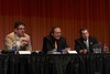 Chicago, IL - ASCO 2012 Annual Meeting: - The Panel, LtoR: Stephen R. Johnston, MA, MD, PhD, Anthony D. Elias, MD, Hyman B. Muss, MD<br />  discuss topics of the  during the Ed Session: Controversies in Adjuvant Treatment of Breast Cancer at the American Society for Clinical Oncology (ASCO) Annual Meeting here today, Friday June 1, 2012.  Over 25,000 physicians, researchers and healthcare professionals from over 100 countries are attending the meeting which is being held at the McCormick Convention center and features the latest cancer research in the areas of basic and clinical science. Photo by © ASCO/Todd Buchanan 2012 Technical Questions: todd@toddbuchanan.com; ASCO Contact: photos@asco.org