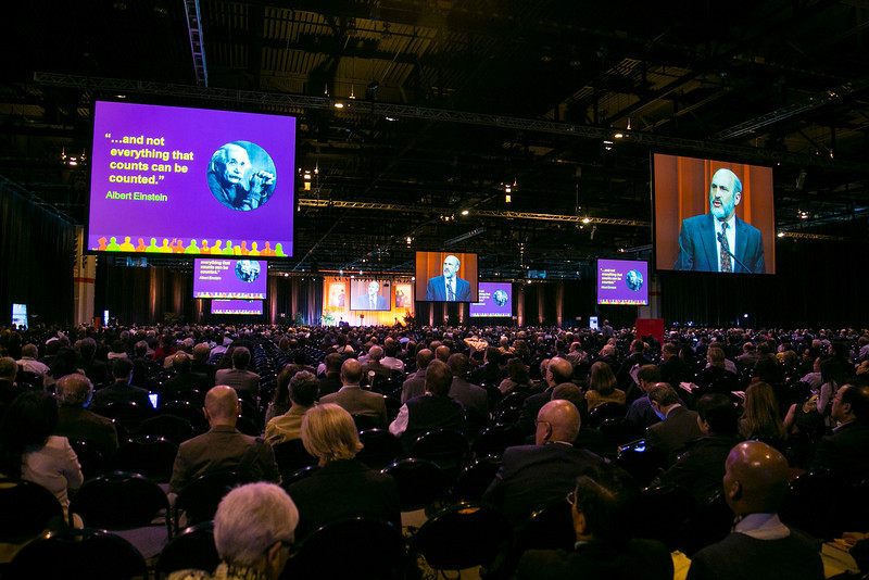 Chicago, IL - ASCO 2012 Annual Meeting: - Opening Session: Presidential Address by Michael P. Link, MD, ASCO President, at the American Society for Clinical Oncology (ASCO) Annual Meeting here today, Saturday June 2, 2012.  Over 25,000 physicians, researchers and healthcare professionals from over 100 countries are attending the meeting which is being held at the McCormick Convention center and features the latest cancer research in the areas of basic and clinical science. Photo by © ASCO/Todd Buchanan 2012 Technical Questions: todd@toddbuchanan.com; ASCO Contact: photos@asco.org