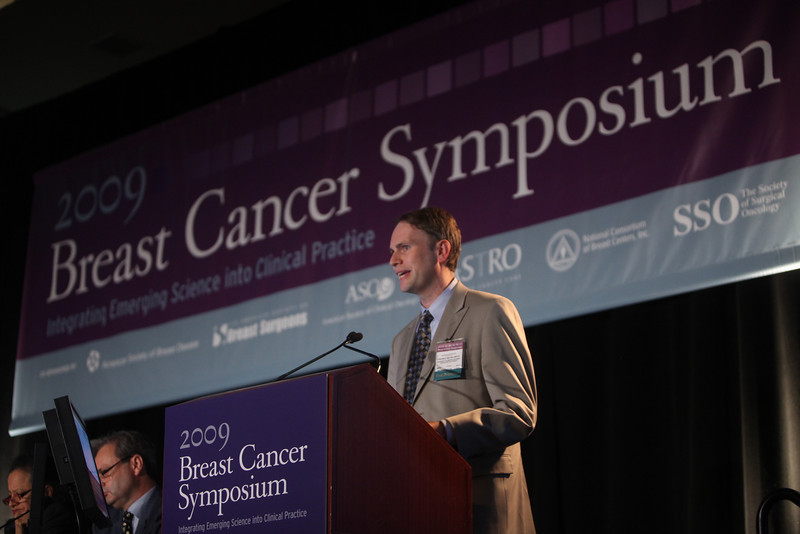 San Francisco, CA - ASCO 2009 Breast Cancer Symposium: Torsten O. Nielsen, MD, PhD discusess Abstract #23: Intrinsic subtype and response to paclitaxel in CALGB 9344 tissue microarrays during the Oral Abstract Presentation Session A at the 2009 American Society of Clinical Oncologists Breast Cancer Symposium here today, Thursday October 8, 2009 at the Marriott Hotel. Thursday October 8, 2009 Photo by © ASCO/Todd Buchanan 2009 Technical Questions: todd@toddbuchanan.com; Phone: 612-226-5154.