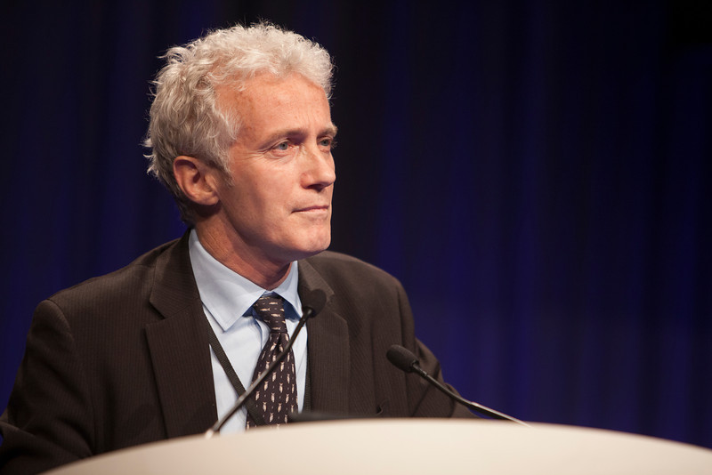 """Chicago, IL - ASCO 2013 Annual Meeting: - Dr. Pascal Hammel presents his abstract  """"Comparison of chemoradiotherapy (CRT) and chemotherapy (ct) in patients with a locally advanced pancreatic ancer (LAPC) controlled after 4 months of gemcitabine with or without erlotinib: Final results of the international phase III"""" at the American Society for Clinical Oncology (ASCO) Annual Meeting here today, Monday June 3, 2013.  Over 30,000 physicians, researchers and healthcare professionals from over 100 countries are attending the meeting which is being held at the McCormick Convention center and features the latest cancer research in the areas of basic and clinical science. Photo by © ASCO/Silas Crews 2013 Technical Questions: todd@toddbuchanan.com; ASCO Contact: photos@asco.org"""