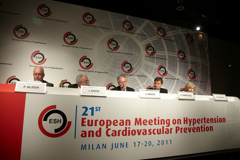 Milan,  - ESH 2011: Opening Press conference at the European Society of Hypertension meeting here today, Friday June 17, 2011.The meeting attracts more than 6,000 physicians, researchers and health care professionals from more than 30 countries. Date: Friday June 17, 2011 Photo by © Todd Buchanan 2011  Technical Questions: todd@toddbuchanan.com; Phone: 612-226-5154.