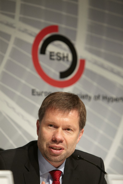 Milan,  - ESH 2011: Current ESH President K. Narkiewicz at Opening Press conference at the European Society of Hypertension meeting here today, Friday June 17, 2011.The meeting attracts more than 6,000 physicians, researchers and health care professionals from more than 30 countries. Date: Friday June 17, 2011 Photo by © Todd Buchanan 2011  Technical Questions: todd@toddbuchanan.com; Phone: 612-226-5154.