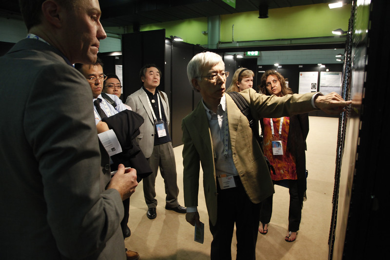 Milan,  - ESH 2011: M Shimizu's Poster at Session PS44 - a15 - Poster 274 Protective effect of valsartan for stroke in japanese subjects: an analysis of jikei heart study at the European Society of Hypertension meeting here today, Monday June 20, 2011.The meeting attracts more than 6,000 physicians, researchers and health care professionals from more than 30 countries. Date: Monday June 20, 2011 Photo by © Todd Buchanan 2011  Technical Questions: todd@toddbuchanan.com; Phone: 612-226-5154.