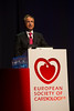 "Munich,  - ESC 2012- B Pieske (Graz, AT) presents ""Aldo-DHF: Aldosterone Receptor Blockade in Diastolic Heart Failure"" during the HOTLINE session at the European Society of Cardiology annual meeting here today, Sunday August 26, 2012. Over 27,000 attendees have come from over 140 countries to learn the latest in Caridovascular research. Photo by © Todd Buchanan 2012 Technical Questions: todd@toddbuchanan.com;"