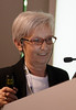 "Milan,  - ESMO 2010 - Dr. Pinuccia Valagussa speaks at the Young Oncologist Masterclass: ""The Importance of conductiing well-designed clinical trials"" here today, Friday October 8, 2010 during the European Society of Medical Oncology 2010 Congress. Photo by © Todd Buchanan 2010 Technical Questions: todd@toddbuchanan.com Phone: +1.612.226.5154"