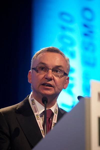 Milan,  - ESMO 2010 - Dr. Jose Baselga addresses the Presidential Symposium here today, Monday October 11, 2010 during the European Society of Medical Oncology 2010 Congress. Photo by © Todd Buchanan 2010 Technical Questions: todd@toddbuchanan.com Phone: +1.612.226.5154