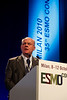 Milan,  - ESMO 2010 - Dr. Ulrich Gatzemeier addresses the Proffered Papers Session: Chest Tumors II here today, Monday October 11, 2010 during the European Society of Medical Oncology 2010 Congress. Photo by © Todd Buchanan 2010 Technical Questions: todd@toddbuchanan.com Phone: +1.612.226.5154