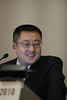 Milan,  - ESMO 2010 - Dr. Isamu Okamoto speaks at the ESMO/JSMO Joint Symposium: Biomarkers and selected therapeutics in lung and gastrointestinal cancer here today, Saturday October 9, 2010 during the European Society of Medical Oncology 2010 Congress. Photo by © Todd Buchanan 2010 Technical Questions: todd@toddbuchanan.com Phone: +1.612.226.5154