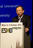 Milan,  - ESMO 2010 - Dr. Caicun Zhou speaks at the Proffered Paper Session: Chest Tumors I here today, Saturday October 9, 2010 during the European Society of Medical Oncology 2010 Congress. Photo by © Todd Buchanan 2010 Technical Questions: todd@toddbuchanan.com Phone: +1.612.226.5154
