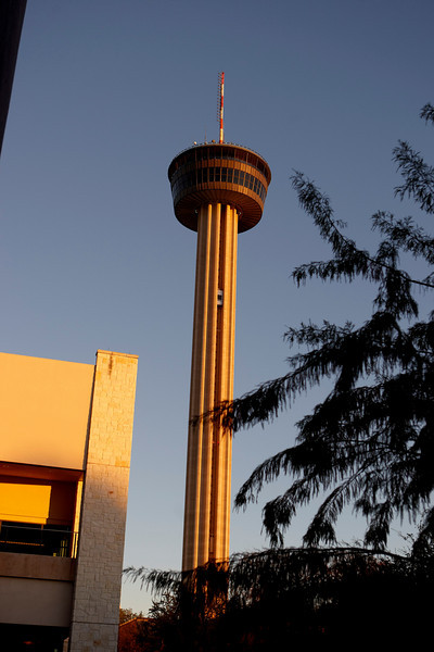 San Antonio, TX - SABCS 2008 San Antonio Breast Cancer Symposium: Tower of the Americas at the 2008 San Antonio Breast Cancer Symposium here today, Friday December 12, 2008. Over 8,000 Physicians, researchers and healthcare professionals from over 50 countries attended the meeting sponsored by American Association of Cancer Researchers (AACR) and the University of Texas, which features the latest research on Breast Cancer Treatment and Prevention. Date: Friday December 12, 2008 Photo by © SABCS/Todd Buchanan 2008 Technical Questions: todd@toddbuchanan.com; Phone: 612-226-5154.