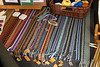 A collection of different ribbons manually made with tablet weaving.<br /> <br /> They can be used on the borders of clothing, as a belt or even to hang pots of plants from.