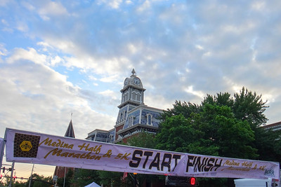 Medina Half Marathon Start/Finish Line, 2015.