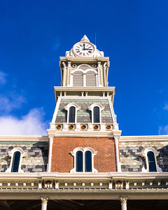 Old Medina County Courthouse Clock Tower, February 2015.