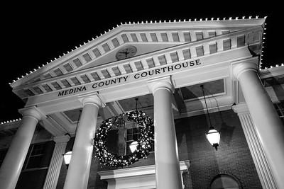 Medina County Courthouse, Candlelight Walk, 2017.