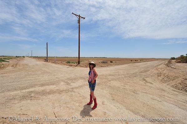 Kreuzung in der Wüste