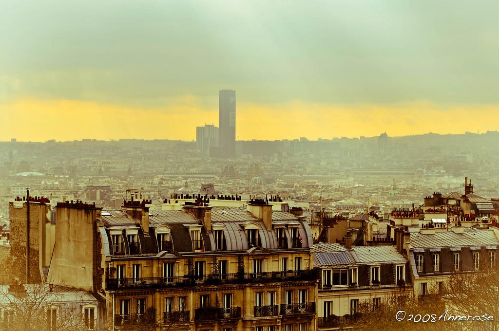 Blick von Montmartre auf Montparnasse