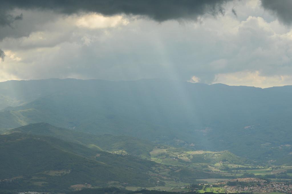 Blick vom Berg La Verna