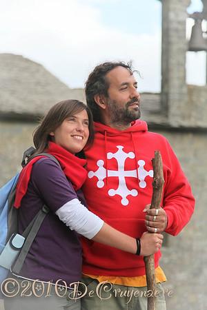 Pilgerpaar in La Verna