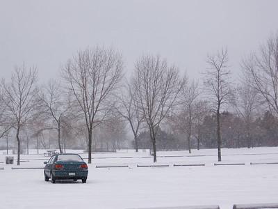 Deserted Parking Lot