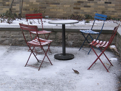"""Snowy Courtyard (submitted to PXITE for """"Closed"""")"""