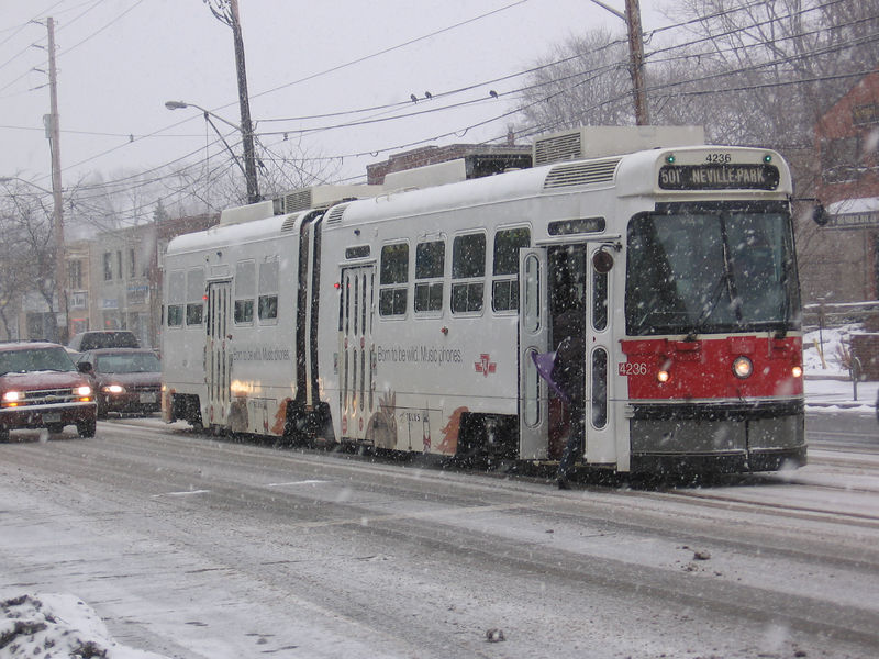 """Snowy Streetcar (Submitted to Moody Monday for """"Open"""")"""