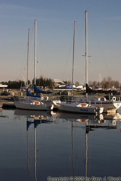 Reflected boats
