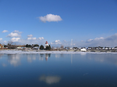 Marina Ice Reflection