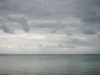 Clouds, Reef, Water -- Roatan, Honduras