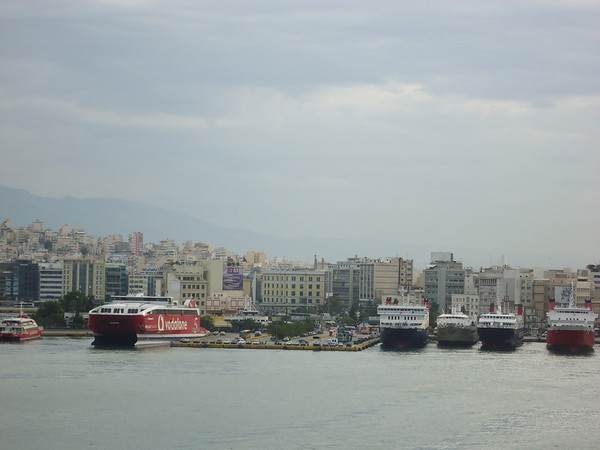 View of Athens from the ship