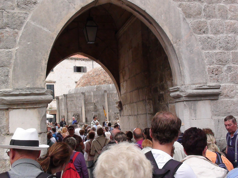 Entering the Dubrovnik Town Walls