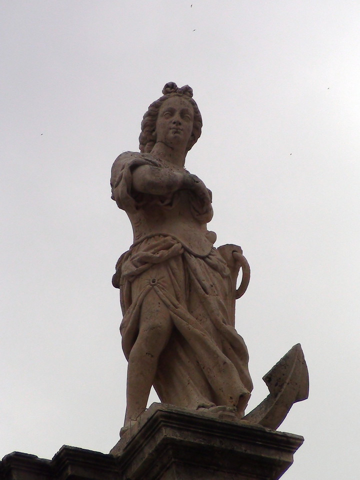 Yet another statue on top of the church