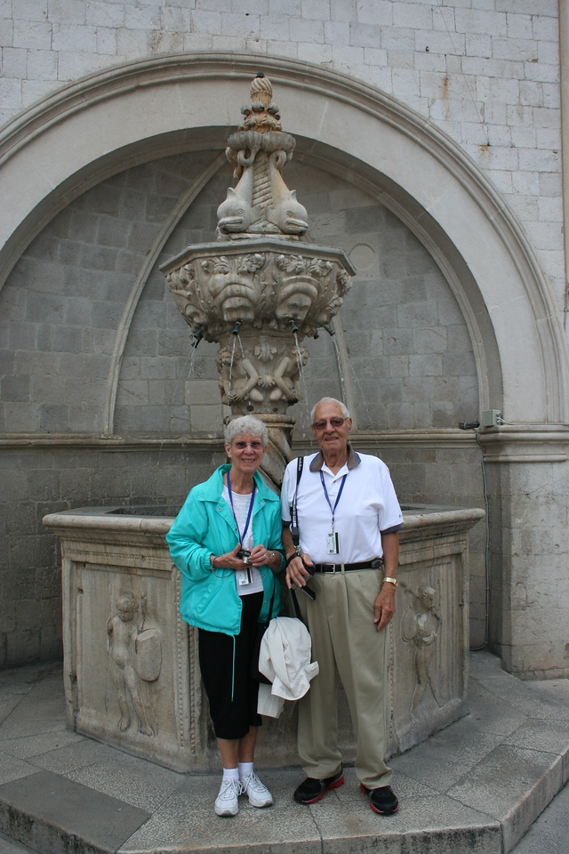 Mom & Dad in front of Onofrio's Little Fountain