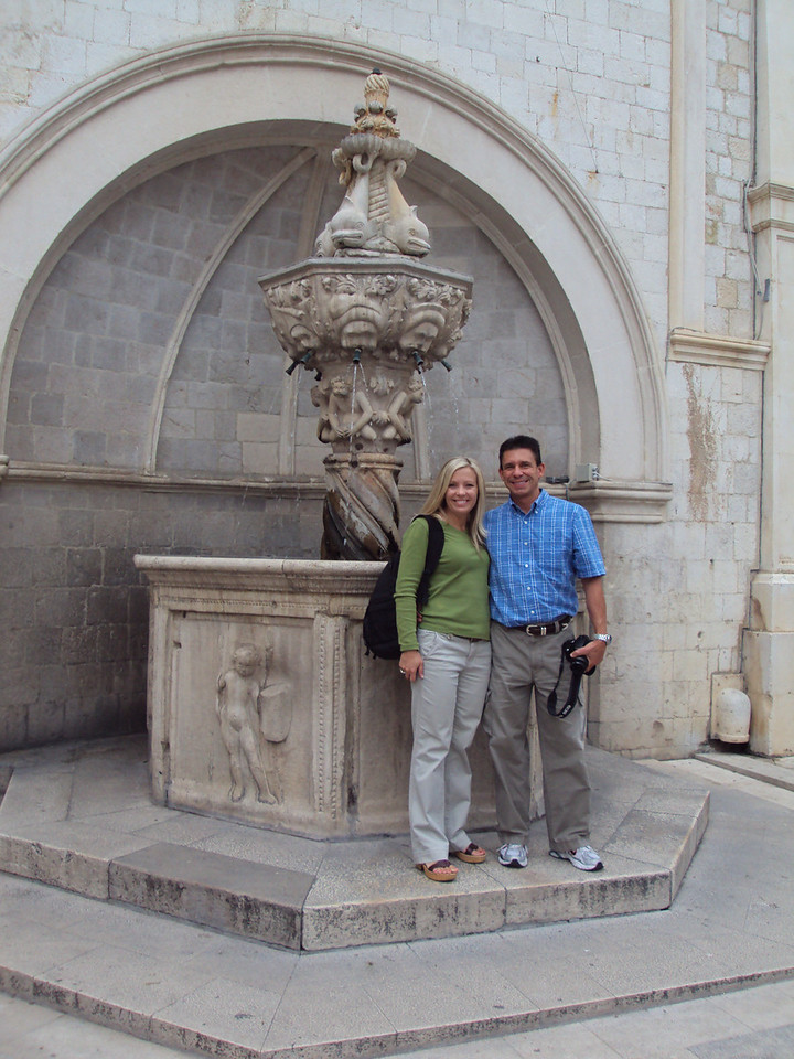Here we are in front of Onofrio's Little Fountain